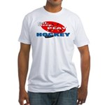 Eat Sleep Play Hockey Fitted T-Shirt
