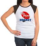 Eat Sleep Play Hockey Women's Cap Sleeve T-Shirt