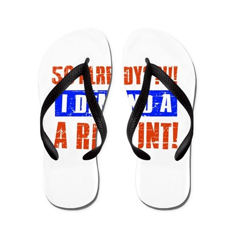 50th birthday design Flip Flops by mmab