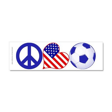 U.S.A. Soccer Fan Car Magnet 10 x 3