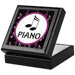 Piano Music Notes Keepsake Box