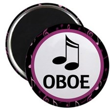 Oboe Music Notes Magnet