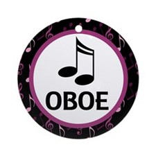 Oboe Music Notes Ornament (Round)