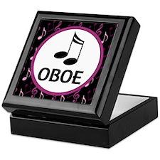 Oboe Music Notes Keepsake Box