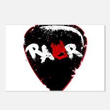Rawr Guitar Pick Postcards (Package of 8)