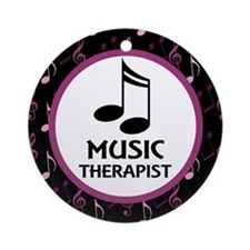 Music Therapist Gift Ornament (Round)
