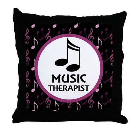 Music Therapist Gift Throw Pillow