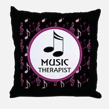 Music Therapist Gift Throw Pillow