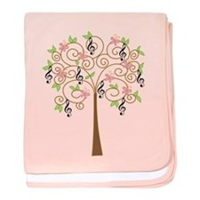 Music Treble Clef Tree Gift baby blanket