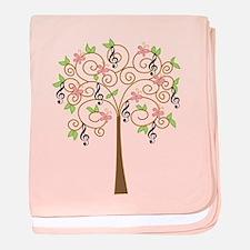 Music Treble Clef Tree Gift baby blanket