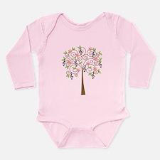 Music Treble Clef Tree Gift Long Sleeve Infant Bod