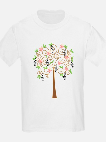 Music Treble Clef Tree Gift T-Shirt