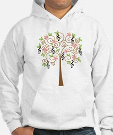 Music Treble Clef Tree Gift Jumper Hoody