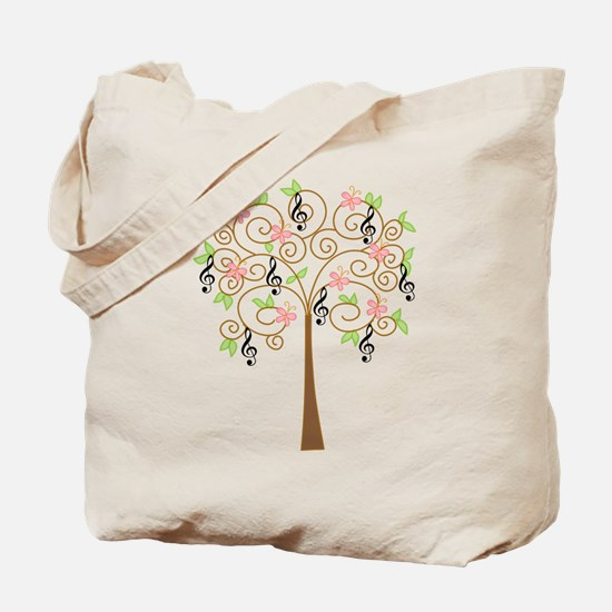 Music Treble Clef Tree Gift Tote Bag