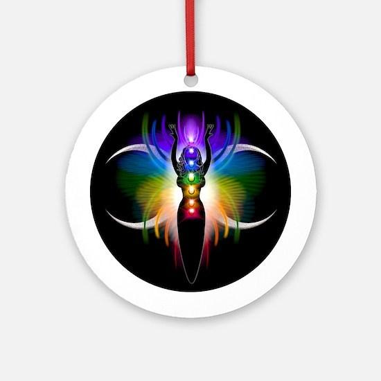 Chakra Goddess Ornament (Round)