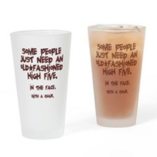 High Five In The Face Drinking Glass