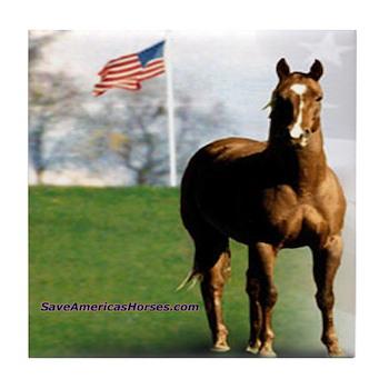 Save America's Horses Tile Coaster