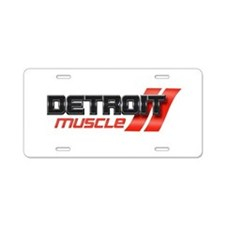 DETROIT MUSCLE Aluminum License Plate