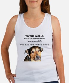 Cute Dog quotes Women's Tank Top