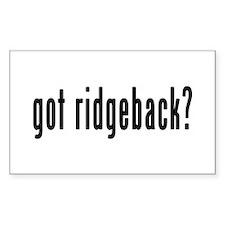 GOT RIDGEBACK Decal