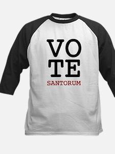 Vote Santorum Kids Baseball Jersey
