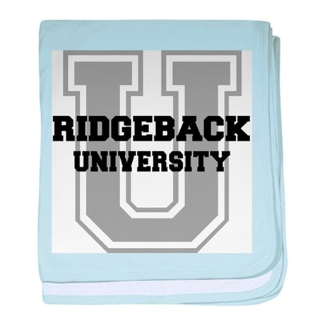Ridgeback UNIVERSITY baby blanket