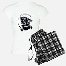 Black Pug IAAM Pajamas