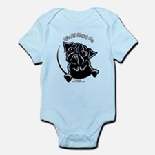 Black Pug IAAM Infant Bodysuit