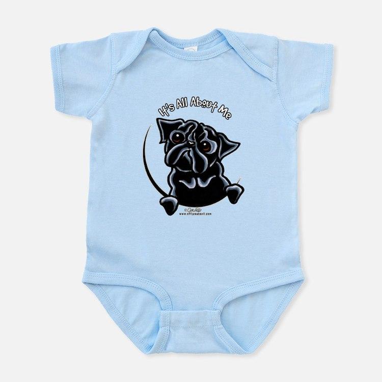 Black Pug IAAM Infant Bodysuit