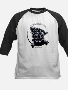 Black Pug IAAM Kids Baseball Jersey