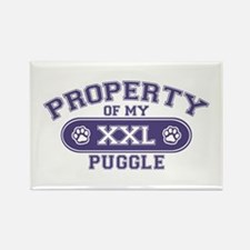 Puggle PROPERTY Rectangle Magnet