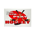 Eat Sleep Play Hockey Rectangle Magnet