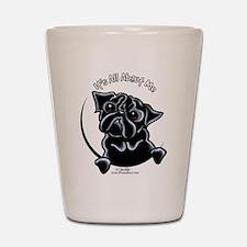 Black Pug IAAM Shot Glass