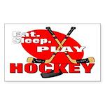 Eat Sleep Play Hockey Rectangle Sticker