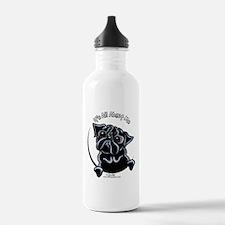 Black Pug IAAM Water Bottle