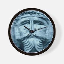 Blue Jesus Wall Clock