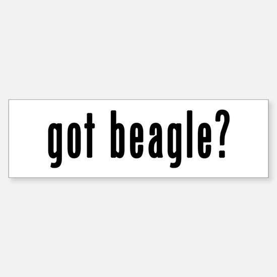 GOT BEAGLE Sticker (Bumper)
