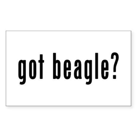 GOT BEAGLE Sticker (Rectangle)