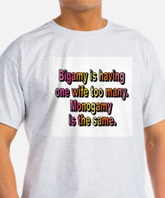 Bigamy Ash Grey T-Shirt