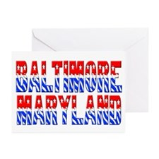 Baltimore (stars and stripes) Greeting Cards (Pack