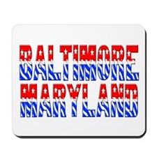 Baltimore (stars and stripes) Mousepad