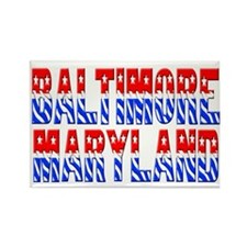 Baltimore (stars and stripes) Rectangle Magnet