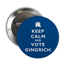 "Keep Calm and Vote Gingrich 2.25"" Button"