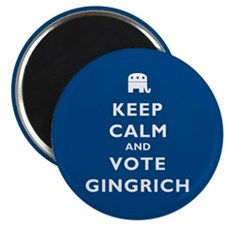 Keep Calm and Vote Gingrich Magnet