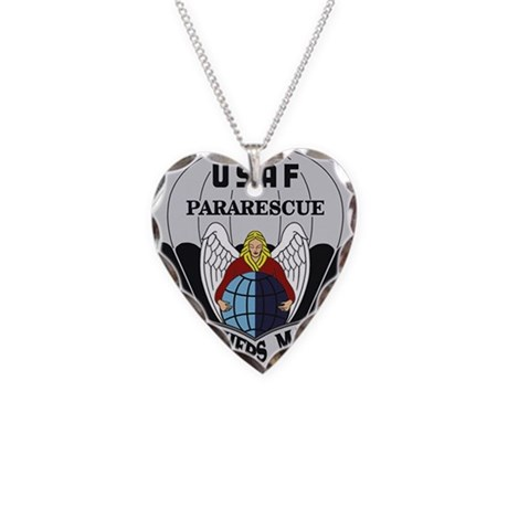 Pararescue Items Necklace Heart Charm
