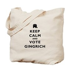 Keep Calm and Vote Gingrich Tote Bag