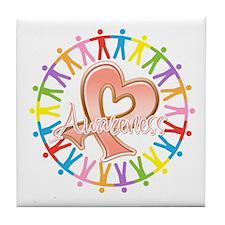 Uterine Cancer Unite in Awareness Tile Coaster