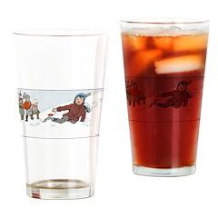 1930's Winter Fun#3 Drinking Glass