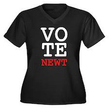 Vote Newt Gingrich Women's Plus Size V-Neck Dark T