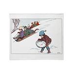 1930's Winter Fun #2 Throw Blanket
